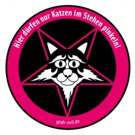 Katze pinkeln (Aufkleber)