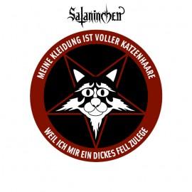 Sataninchen Katzenhaare Button (38 mm)