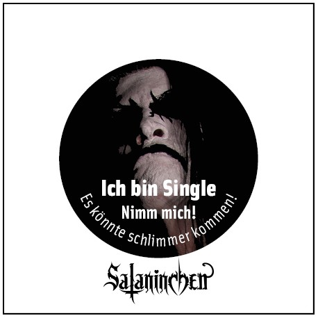 Ich bin Single (Ansteck-Button) 25 mm