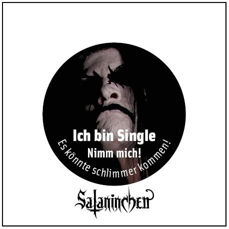 Ich bin Single (Ansteck-Button) 25 mm