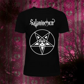 Men Heavy Cotton T (Pentagram-Cat - Sataninchen)