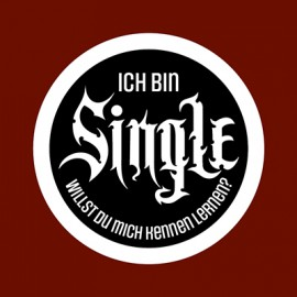 "Patch ""Ich bin Single"""